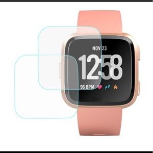 TEMPERED SCREEN PROTECTOR GUARD FITBIT VERSA 3PK
